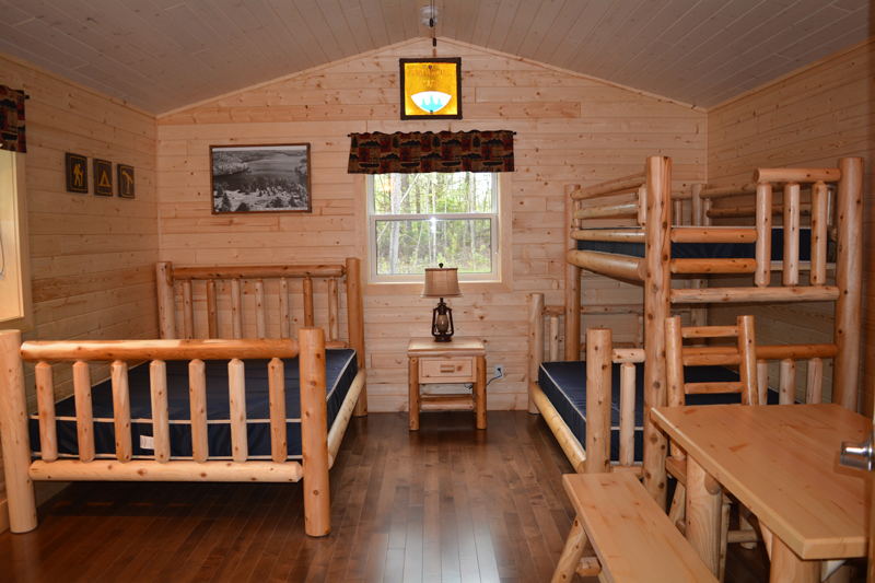 Provincial Parks Roofed Accommodation Furniture by Log Furniture and More